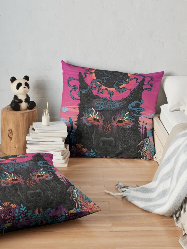 Alternate view of Black Eyed Dog Floor Pillow