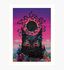 Black Eyed Dog Art Print