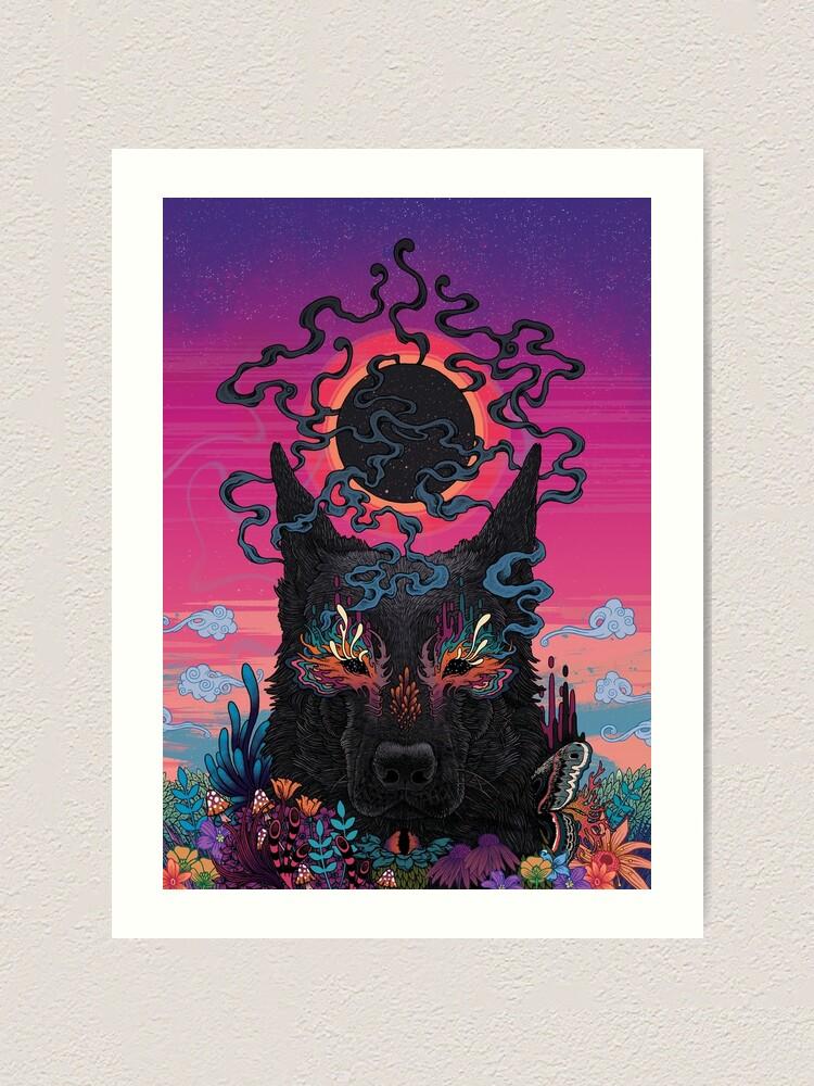 Alternate view of Black Eyed Dog Art Print