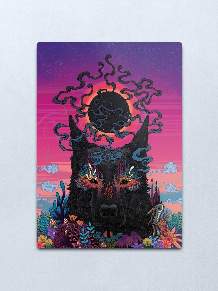 Alternate view of Black Eyed Dog Metal Print