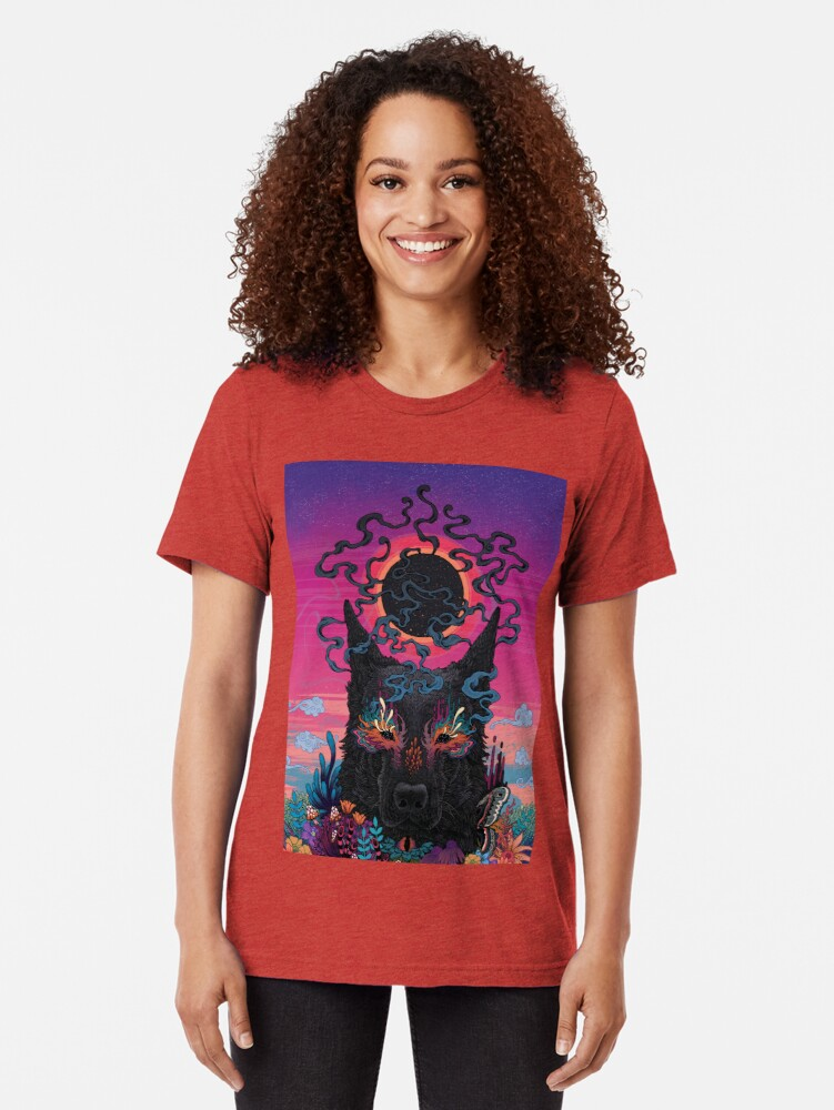 Alternate view of Black Eyed Dog Tri-blend T-Shirt
