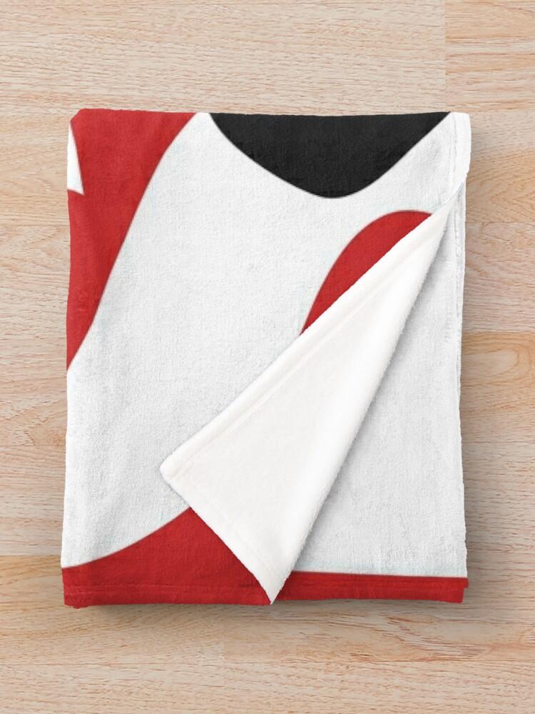 Alternate view of Square Logo White Throw Blanket