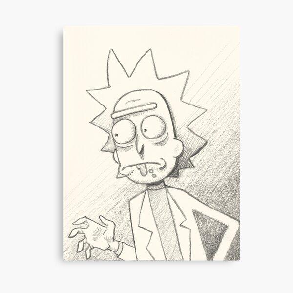 Rick Sanchez -  A Sketchy Character Canvas Print