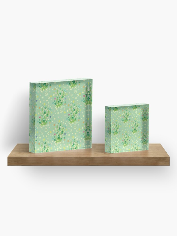 Alternate view of Decorative products with floral ornament. Acrylic Block