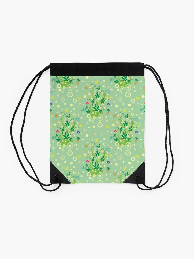 Alternate view of Decorative products with floral ornament. Drawstring Bag