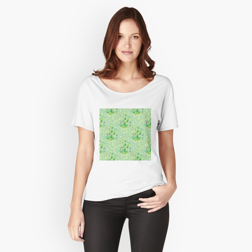 Decorative products with floral ornament. Relaxed Fit T-Shirt