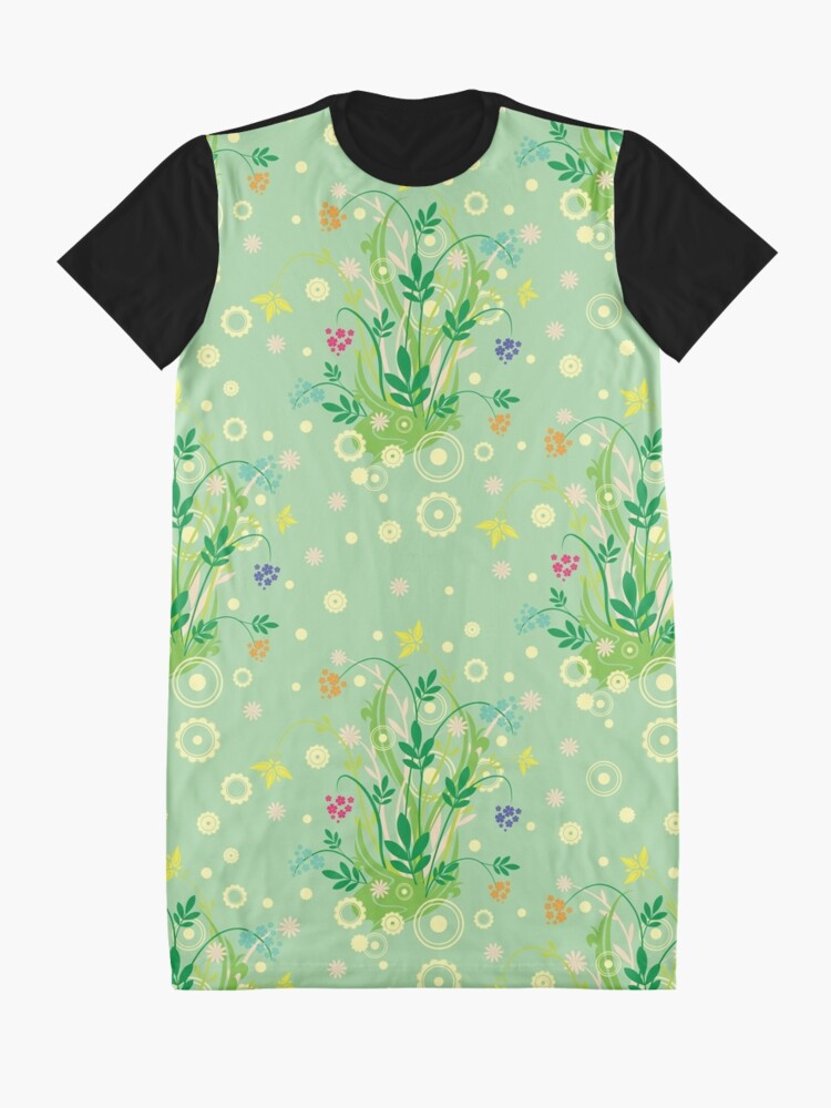Alternate view of Decorative products with floral ornament. Graphic T-Shirt Dress