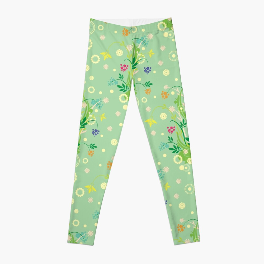 Decorative products with floral ornament. Leggings
