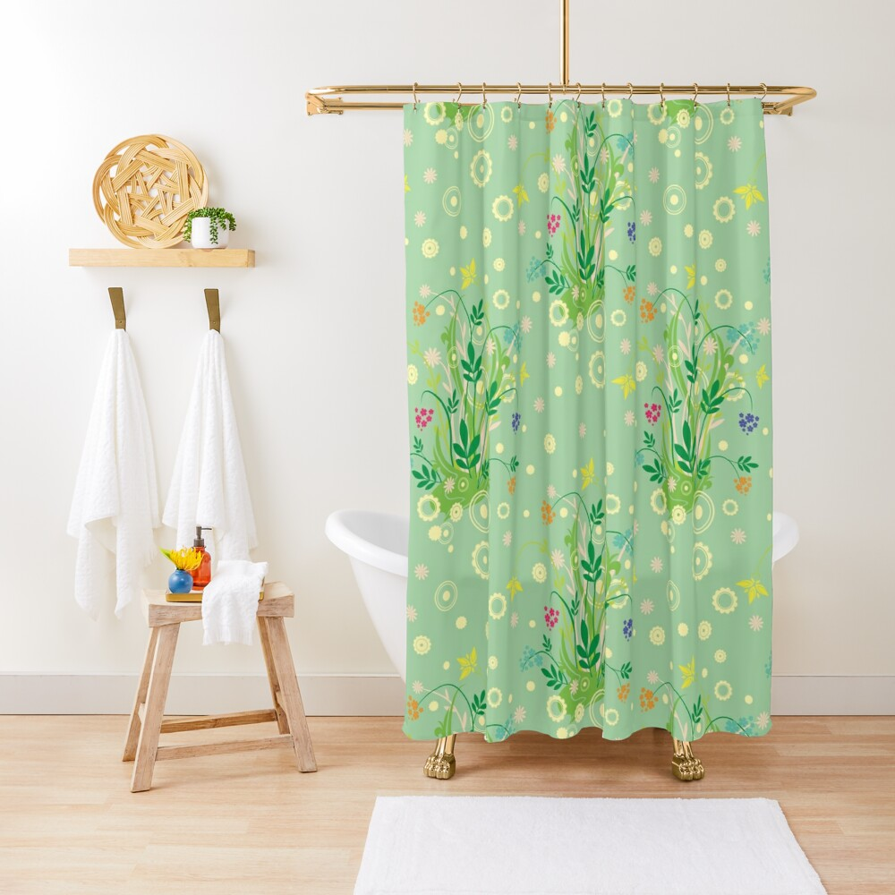 Decorative products with floral ornament. Shower Curtain