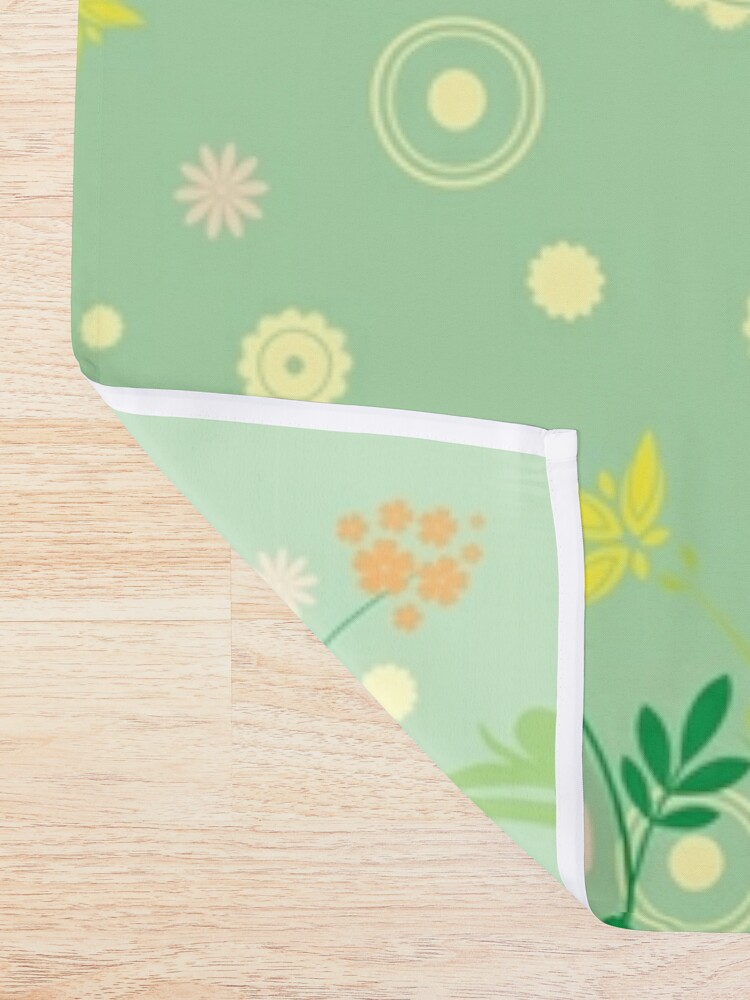 Alternate view of Decorative products with floral ornament. Shower Curtain