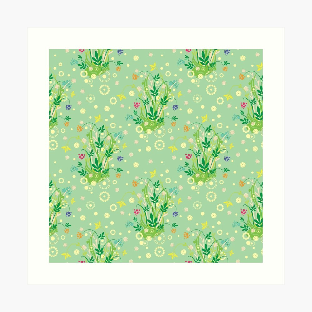 Decorative products with floral ornament. Art Print