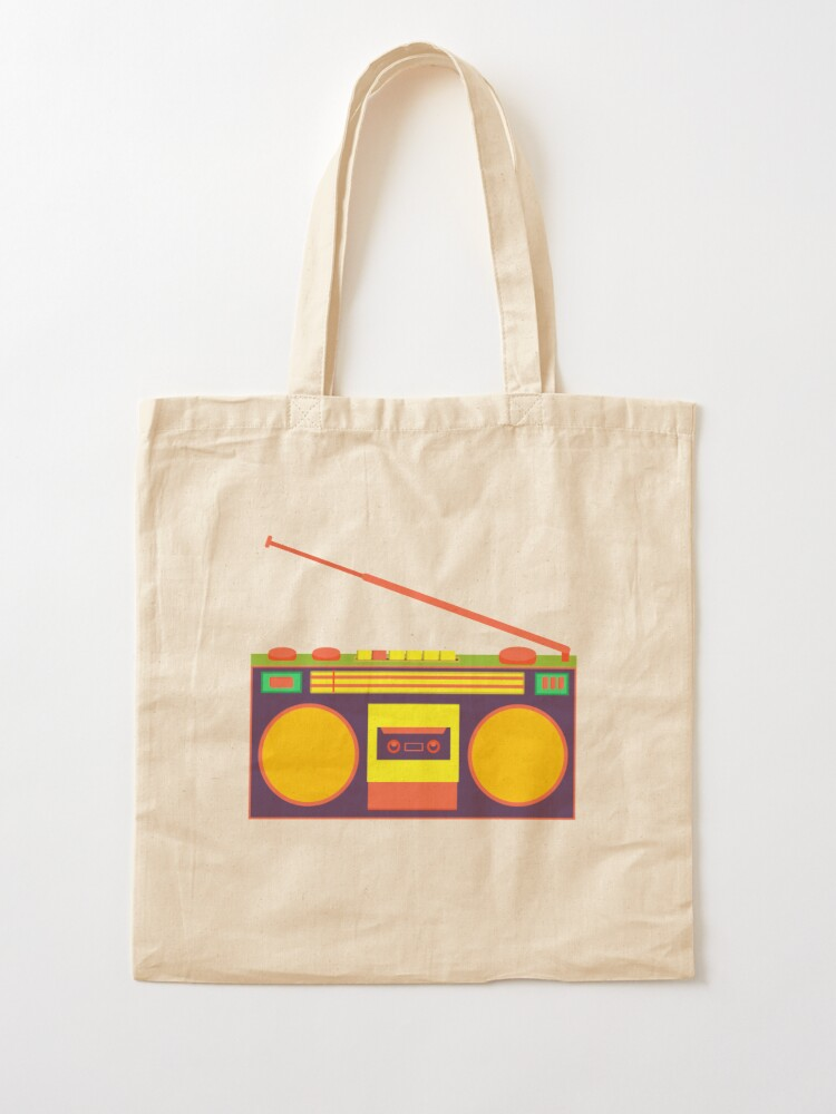 Alternate view of boombox - old cassette - Devices Tote Bag