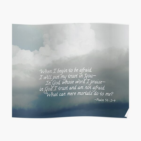 When I Begin To Be Afraid Poster