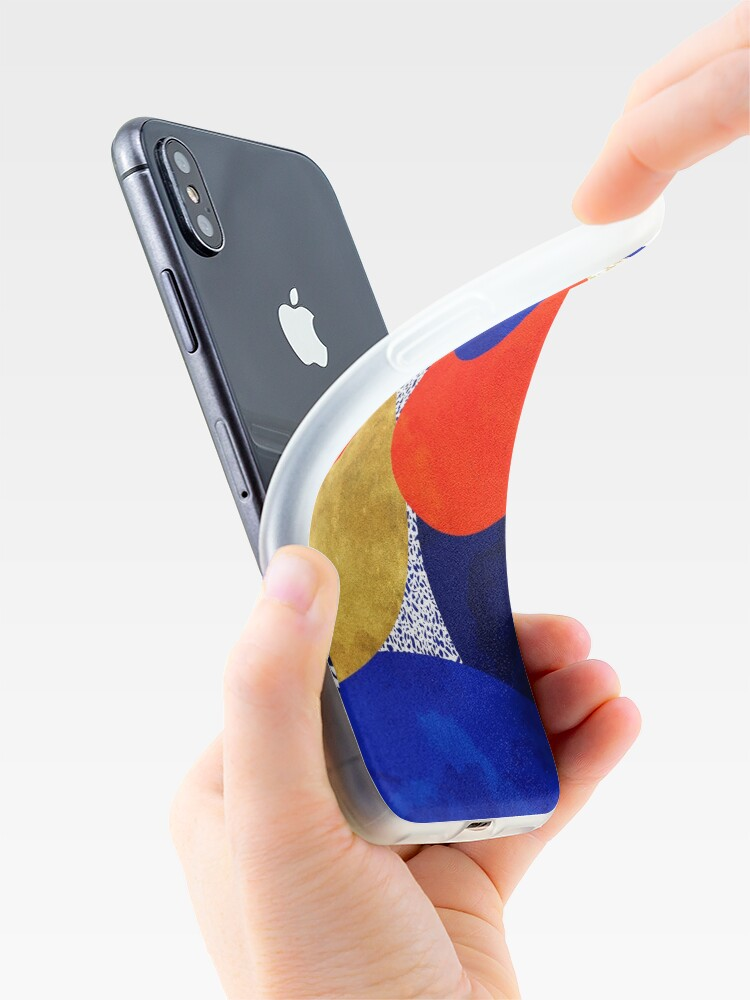 Alternate view of Terrazzo galaxy midnight blue yellow golden orange iPhone Case & Cover