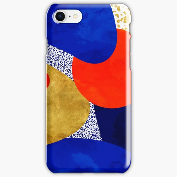 Terrazzo galaxy midnight blue yellow golden orange iPhone Snap Case