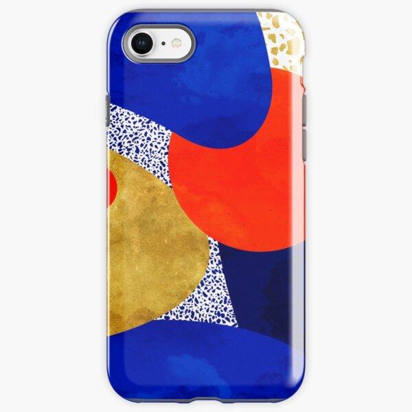 Terrazzo galaxy midnight blue yellow golden orange iPhone Tough Case