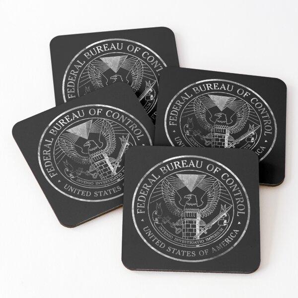 Copy of Federal Bureau of Control White Coasters (Set of 4)