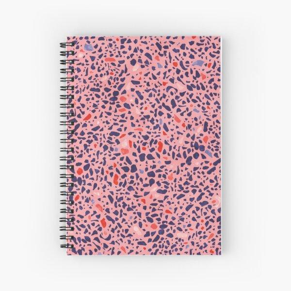 Terrazzo pink red orange blue Spiral Notebook