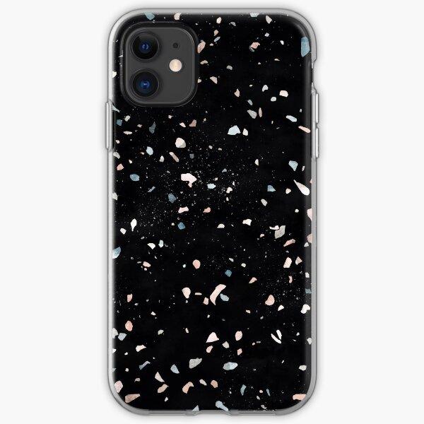 Terrazzo Memphis black galaxy iPhone Soft Case