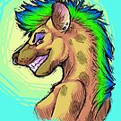 Punk Hyena by TheDerpyDragon