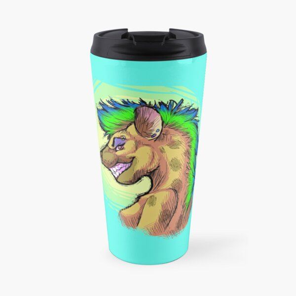 Punk Hyena Travel Mug