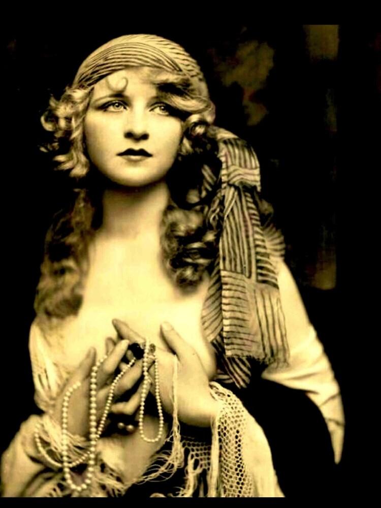 ZIEGFELD GIRL : Vintage 1920 Flapper Advertising Print by posterbobs