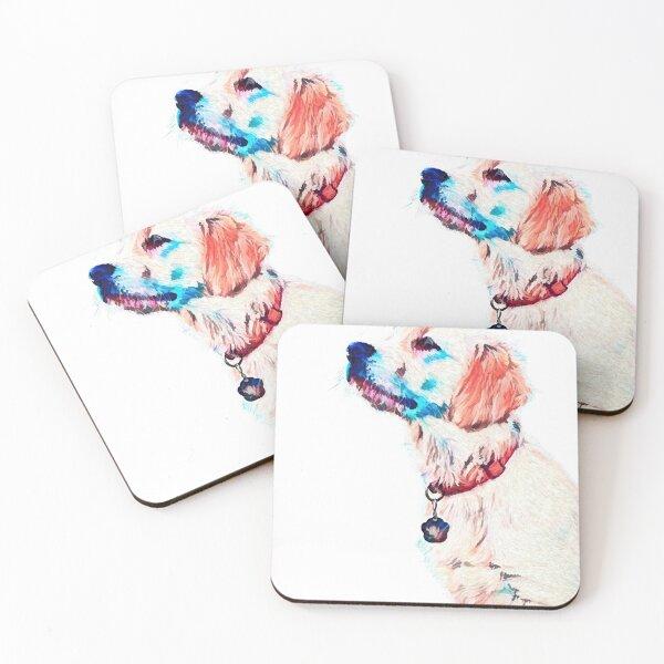 Golden retriever dog Coasters (Set of 4)