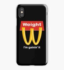 McDonalds Funny Weight I'm Gainin' It iPhone Case/Skin
