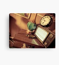 Time In Retro Canvas Print