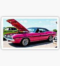 Bubblegum Pink Classic Dodge Challenger Sticker