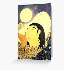 White Crow Book Cover Greeting Card