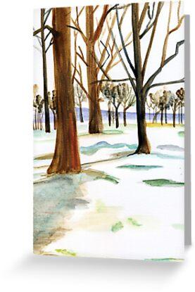 winter trees by Leeanne Middleton