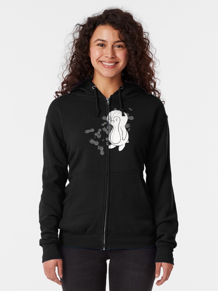 Alternate view of Penguin Doll Zipped Hoodie