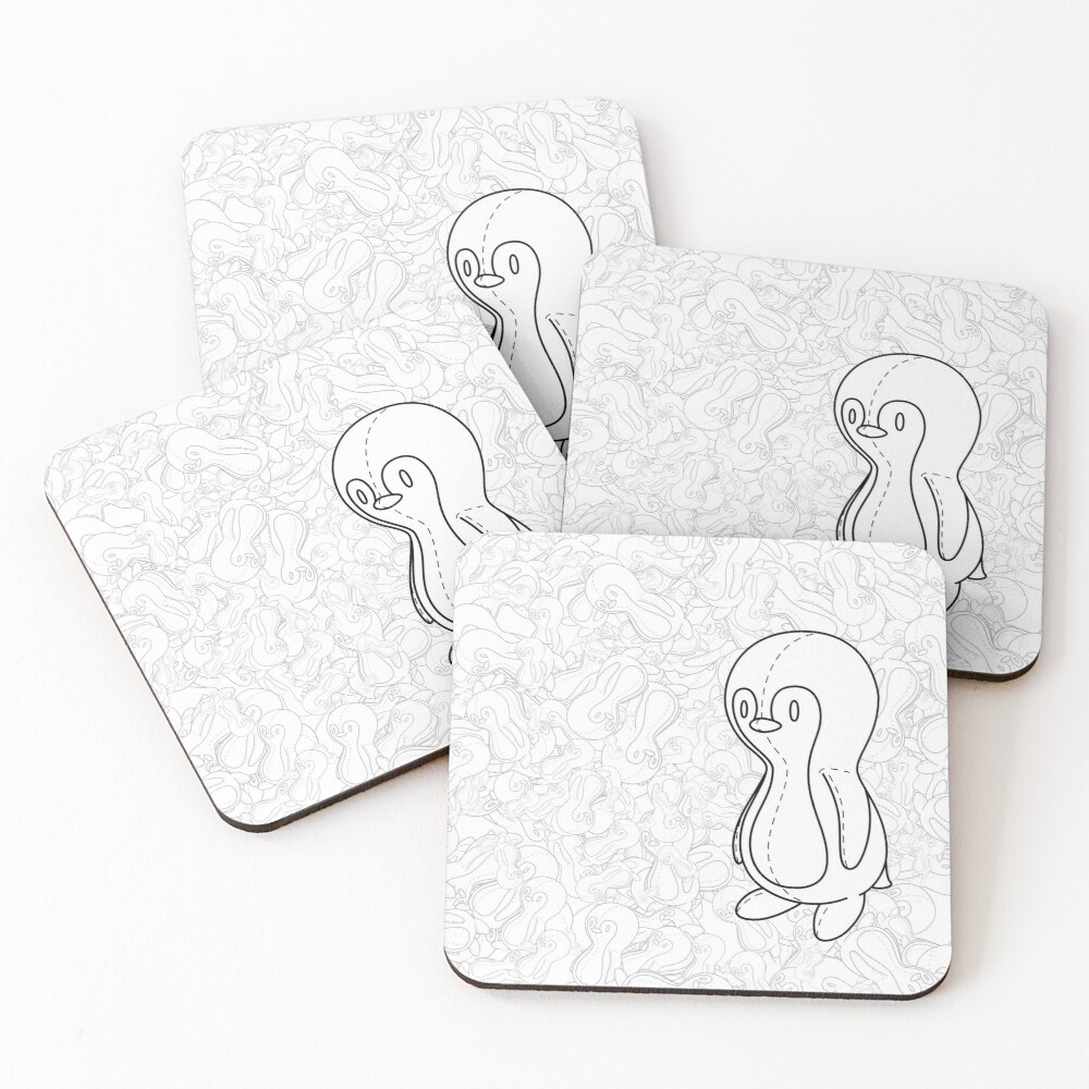 Penguin Doll Coasters (Set of 4)