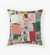 Riot Grrrl Fliers (1996) Throw Pillow