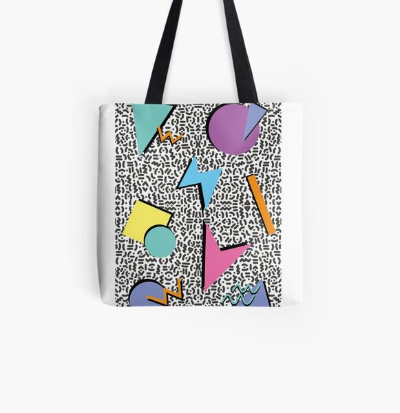 80/'s Inspired All Over Print Tote Bag