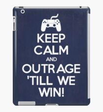 Outrage 'till we win! iPad Case/Skin