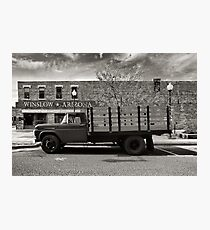 I was standing on the corner in Winslow Arizona.... Photographic Print