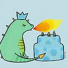 Green and Blue Birthday Dragon by zoel