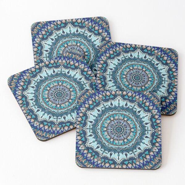 Blue Mandala Coasters (Set of 4)