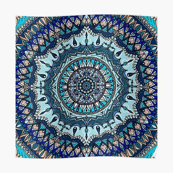 Blue Mandala Poster