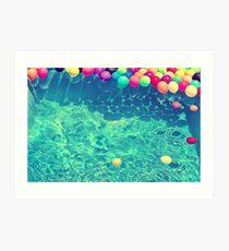 Un arcoiris de globos Art Print