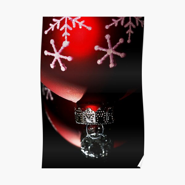 Christmas Red Reflections Poster