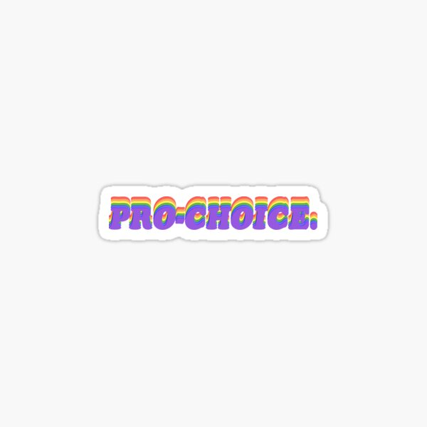 Regenbogen Pro-Choice Sticker