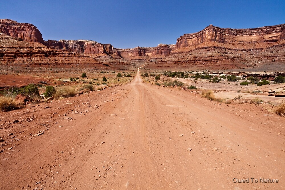 Shafer Trail Road by Owed To Nature