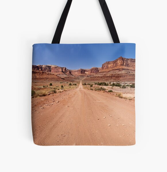 Shafer Trail Road All Over Print Tote Bag