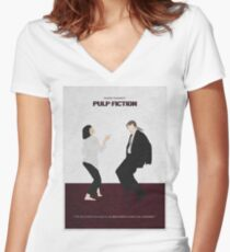 Pulp Fiction 2 Women's Fitted V-Neck T-Shirt