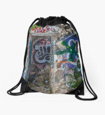 Graffiti Everywhere Drawstring Bag