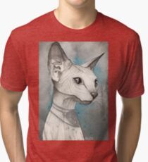 Sphinx Cat Tri-blend T-Shirt