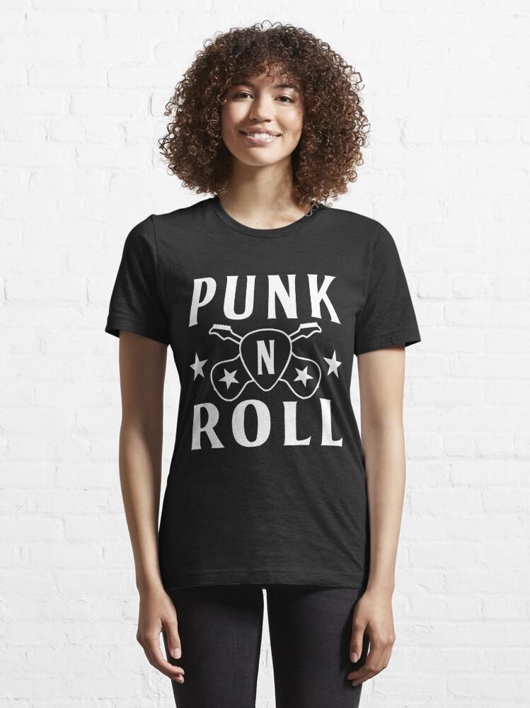 Alternate view of Punk'n'Roll Guitars & Guitar Pick - Design for Rockers Essential T-Shirt